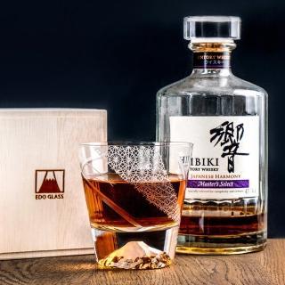 【田島硝子】富士山杯×江戶切子 特別限量版 疾風宇宙 威士忌切子杯 隨飲料變色 玻璃杯(TG20-015-RP1)