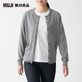 【MUJI 無印良品】女羊毛混蠶絲可水洗圓領開襟衫(共8色)
