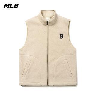 【MLB】毛絨背心外套 波士頓紅襪隊logo(31VTF1061-43B)
