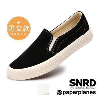 【Paperplanes】韓國來台直送/經典女孩。綁帶休閒小白鞋情侶餅乾鞋(7-0589/二色-現貨+預購)
