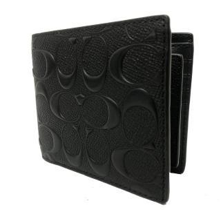 【COACH】經典LOGO8卡男款短夾附活動證件夾(多色選一)