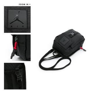 【NIKE 耐吉】側背包 JORDAN 喬丹 運動 休閒 單肩包 黑 JD2033018AD-003