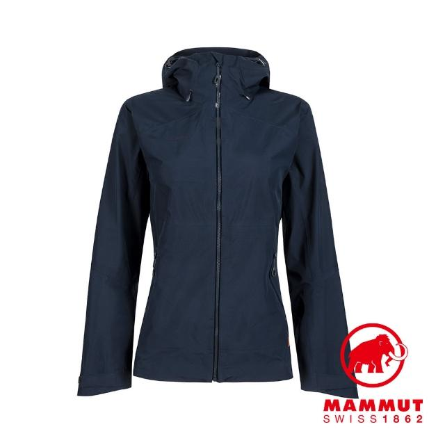【Mammut 長毛象】Convey Tour HS Hooded Jacket GTX防風防水連帽外套 海洋藍 女款 #1010-27850