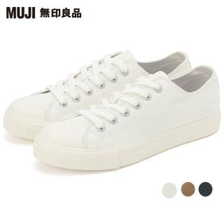 【MUJI 無印良品】撥水加工有機棉舒適休閒鞋(共3色)
