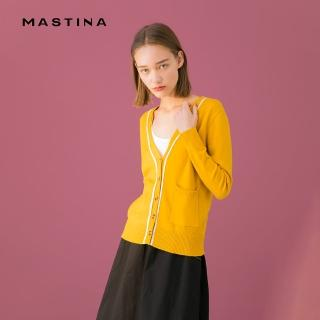 【MASTINA】氣質百搭V領拼接-針織衫(三色/版型適中)/