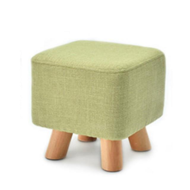 【AOTTO】日系無印風實木方形椅凳 換鞋凳 矮凳(買一送一  三色可選)
