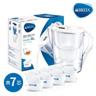 【BRITA】Marella 3.5L馬利拉濾水壺+6入全效型濾芯(共7芯)