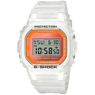 【CASIO 卡西歐】G-SHOCK 半透明螢光時尚電子手錶(DW-5600LS-7)