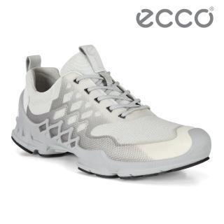 【ecco】BIOM AEX M 健步探索戶外運動鞋 男鞋(白色 80282454510)
