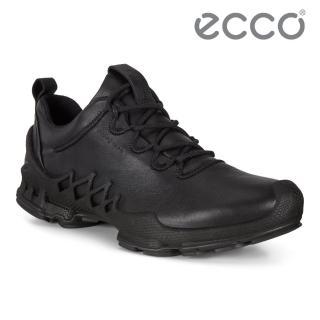【ecco】BIOM AEX M 健步探索戶外防水運動鞋 男鞋(黑色 80283401001)