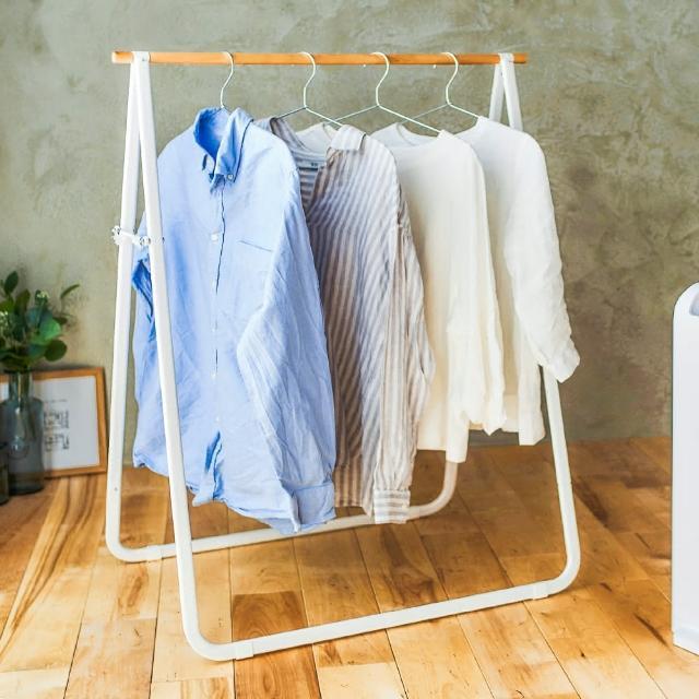 【IRIS】原木造型天然曬衣架