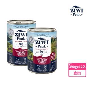 【ZiwiPeak 巔峰】91%鮮肉狗主食罐頭-鹿肉 390g-12件組(狗罐 狗罐頭 鹿肉)