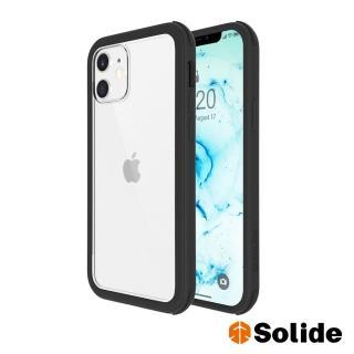 【SOLiDE】維納斯 iPhone 12 mini 軍規抗菌防摔手機殼-極致黑(99%抗菌軍規防摔)