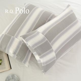 【R.Q.POLO】加購品-純棉雙層紗美式薄枕頭套(一對兩入)