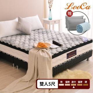 【LooCa】石墨烯遠紅外線+乳膠+M型護框獨立筒床墊(雙5尺-贈石墨烯枕+舊床回收)/