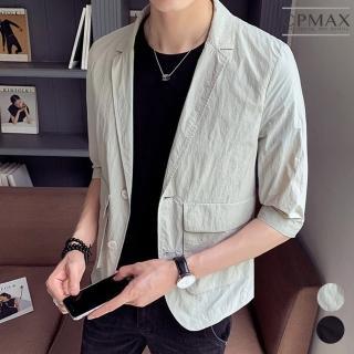 【CPMAX】帥氣單排釦七分袖西裝外套(2色可選