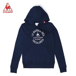 【LE COQ SPORTIF 公雞】連帽T恤 中性-藏青-LOK2330439