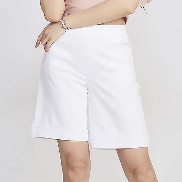【YAKPAK】涼感顯瘦中大尺碼五分褲(3色)/