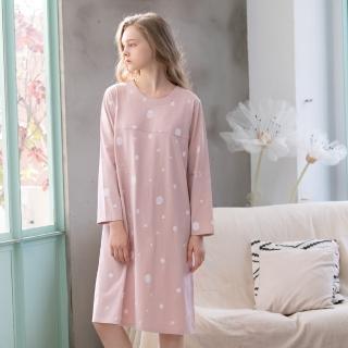 【La Felino 羅絲美】晴空鳥語長袖洋裝睡衣