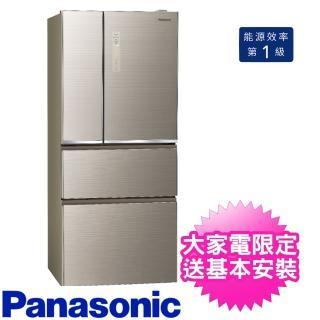 【Panasonic 國際牌】610公升四門變頻玻璃翡翠金(NR-D611XGS-N)