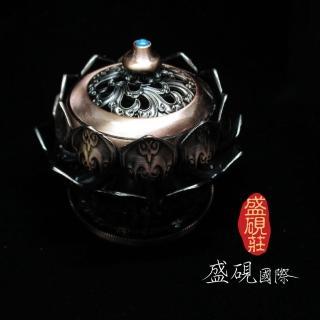 【盛硯莊佛教文物】彩色古銅蓮花香爐(最具特色香爐)