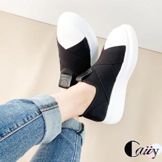 【Caiiy】超人氣學院風韓版厚底懶人鞋C36(黑色)