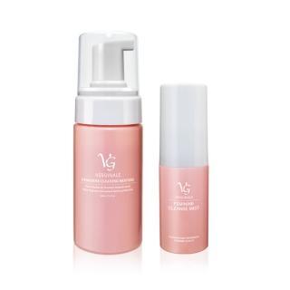 【VG 薇姬娜】私密潔淨慕斯 100 ml + 私密護理噴霧/噴劑 15 ml 粉色加強版 全效防護組