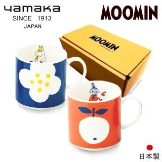 【日本山加yamaka】moomin嚕嚕米彩繪陶瓷馬克杯禮盒2入組(MM0324-13)