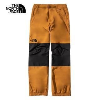 【The North Face】The North Face北面男款棕黑撞色防水透氣衝鋒褲|4QXAHFQ