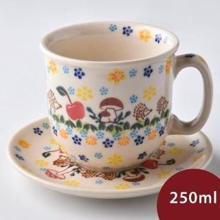 【波蘭陶】春雨新露系列 咖啡杯盤組 250ml 波蘭手工製