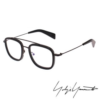【Y-3 山本耀司】Yohji Yamamoto 方型時尚前衛光學眼鏡(黑-YY1026-002)
