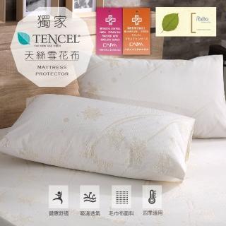 【加價購】天絲超防水透氣枕頭保潔墊2入組(台灣製造)