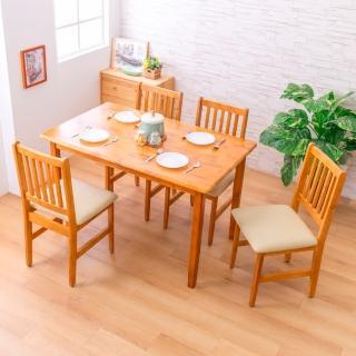 【AS】麗晶西餐桌+皮面餐椅(一桌四椅組合)