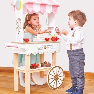 【LE TOY VAN】角色扮演系列-夢幻甜點餐車大型木質玩具組(TV324)