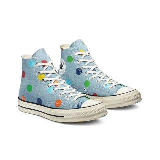 【CONVERSE】CONVERSE x GOLF WANG CHUCK 70 HI 高筒休閒鞋 男女 彩色 點點 牛仔 藍(170011C)