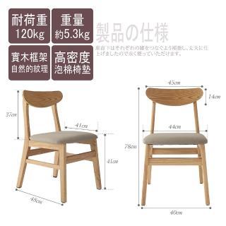 【MAMORU】北歐風木匠靠背休閒椅(實木椅/休閒椅/餐椅/化妝椅/書桌椅)