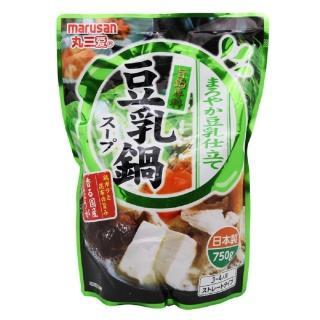 【日本原裝進口】丸三豆乳鍋高湯750ml(鍋底、湯底、高湯、湯包)