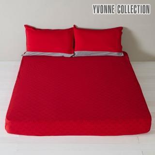 【Yvonne Collection】豬豬印花加大床包(紅)
