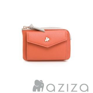 【aziza】CLARA鑰匙零錢包(珊瑚紅)
