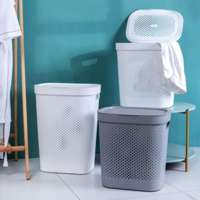【MGSHOP】加蓋大容量洗衣籃髒衣籃(小款/2色)/
