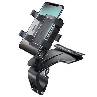 第三代儀表板手機支架 1200°旋轉傾倒 汽車手機架 車用導航支架 臨時停車牌 夾式支架