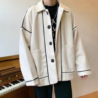 【CPMAX】復古休閒毛呢西裝外套(2色可選