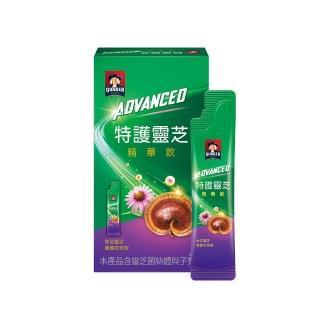 【QUAKER 桂格】Advanced特護靈芝精華飲盒裝15ml×7入(紫錐花+靈芝 迎戰有感風險)