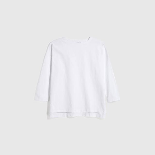【GAP】女裝 簡約風格純色圓領長袖T恤(多色可選)