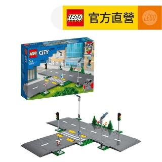 【LEGO 樂高】城市系列 道路底板 60304 斑馬線 道路底板(60304)