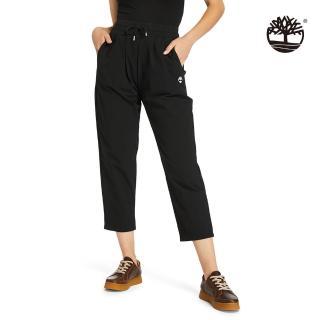 【Timberland】女款黑色防水寬鬆錐形休閒褲(A2CSS001)/