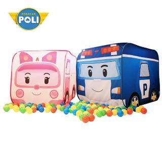 【專案加價購NUNUKIDS】Poli 波力球池帳篷遊戲屋全新福利品含50顆遊戲球(兩款任選)