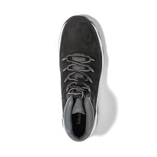 【Timberland】男款黑色磨砂革布魯克林運動鞋(A2JER015)