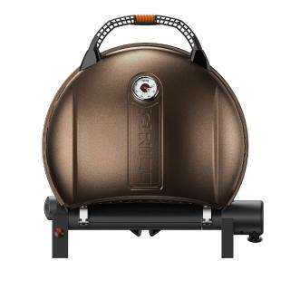 【O-Grill】900MT美式時尚可攜式瓦斯烤肉爐(香檳金)/