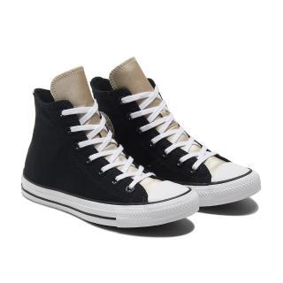 【CONVERSE】CTAS HI 高筒 基本款 百搭 兩色拼接 休閒鞋 女 黑(570286C)